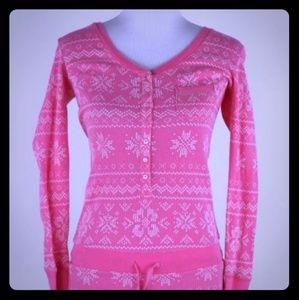 Pink Victoria secret onesie